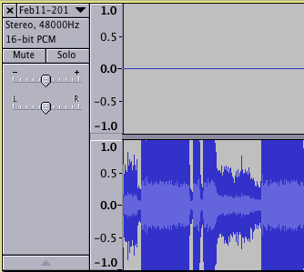 Waveform under audacity